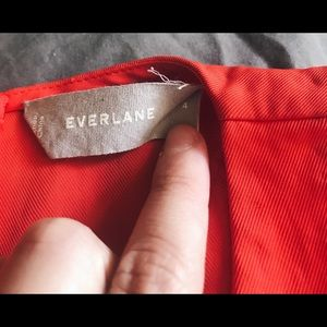 Everlane Japanese GoWeave High Neck Tank - red